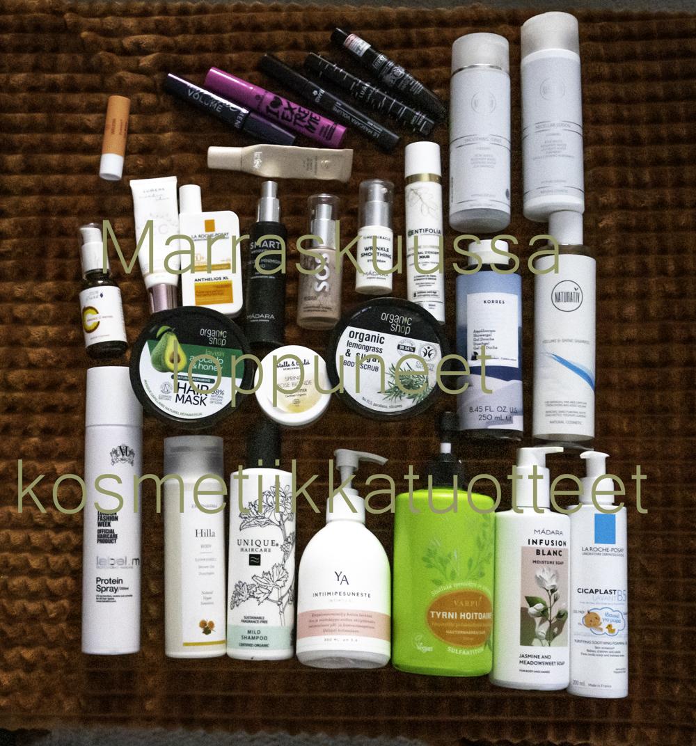 Marraskuussa loppuneet kosmetiikkatuotteet