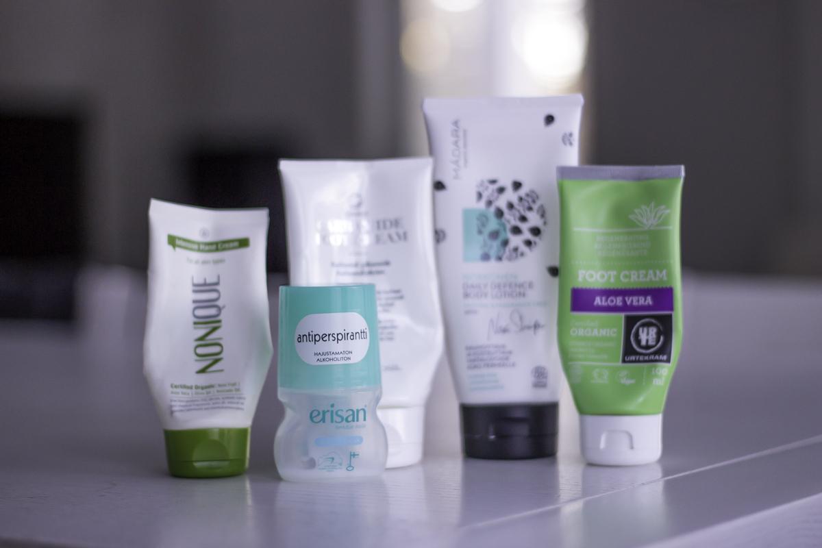 Tyhjentyneet kosmetiikkatuotteet