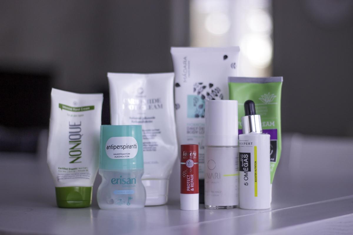 Joulu-tammikuussa tyhjentyneet kosmetiikkatuotteet
